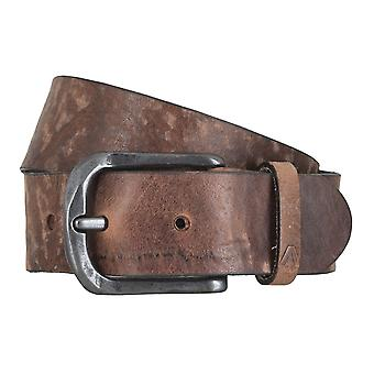 ALBERTO black edge belts men's belts leather belt dark brown 4775