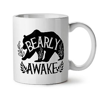 Bearly vaken Bear Grizzly brun NYA vitt te kaffe keramik mugg 11 oz | Wellcoda