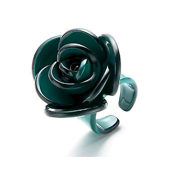 Jewel City Green Flower Ring (Fashion accesories , Jewelery , Rings)