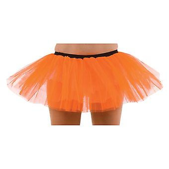 Wicked Ladies Orange Tutu 3 Layer Halloween Fancy Dress Accessory