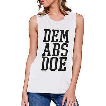 Dem Abs Doe Work Out Muscle Tee Women's Workout Tank Sleeveless Top