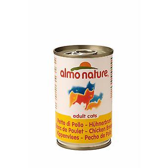 Almo Nature kat Adult kylling 140g (Pack af 24)
