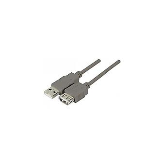 EXC USB 2 0 A-A entry-level Extension Cord Grey 3 m
