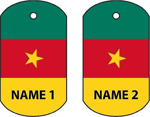 Personalised Cameroon Dog Tag Car Air Freshener