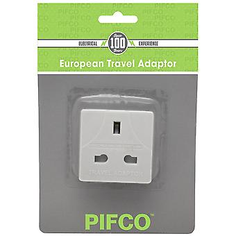 European Travel Adapter Stecker 3pin auf 2pin (UK, EU) - Packung mit 10 (PIF2067)