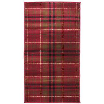 Traditional Red Tartan Rug - Glen Kilry
