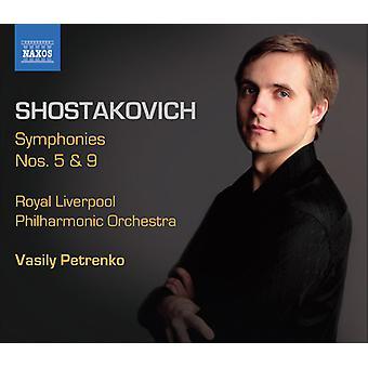 D. Shostakovich - Shostakovich: Sinfonie nn. 5 e 9 importazione USA [CD]