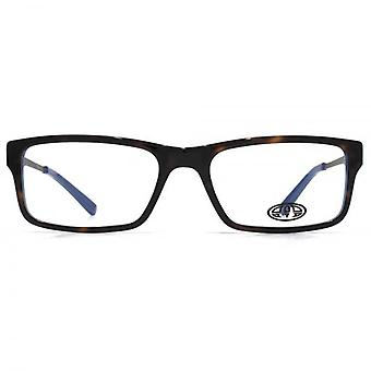 Animal Samson Square Rectangle Acetate Glasses In Tortoiseshell On Blue