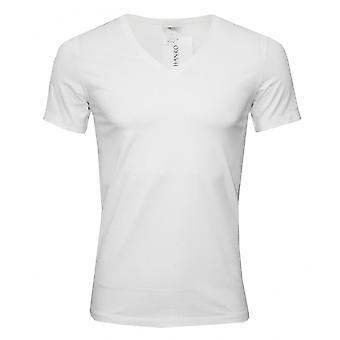 Hanro Cotton Superior V-Neck T-Shirt, White