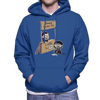 Lucille Is In Walking Dead Peanuts Mashup Men's Hooded Sweatshirt