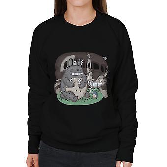 Skogens vänner min granne Totoro kvinnors tröja