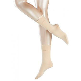 Esprit Basic Pure Fine Mid-Calf Socks - Cream
