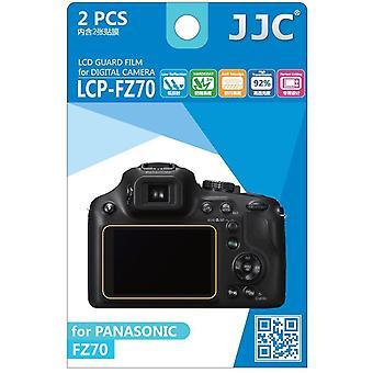 JJC Guard Film Crystal Clear Displayschutzfolie für Panasonic Lumix DMC-FZ70 - kein Schneiden (2 Film-Pack)