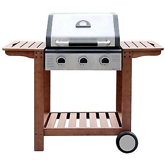 Ldk 3 burner gas barbecue Inox Wood Carro 82152 (Garden , Barbecue , Barbecue)