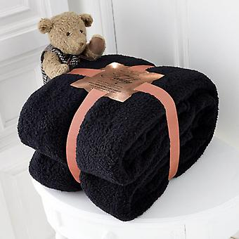 Teddy Bear Super Soft Cudly Blanket Sofa Throw Size 130 x 180cm