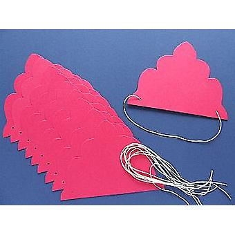 SALE - 8 Pink Card Tiara Bases to Decorate | Crown Making Crafts for Kids