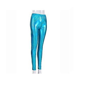 Womens Wet Look Shiny Metallic Foiled Leggings/ Skinny Pants