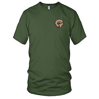 Laotian Expeditionary Force 3rd Squadron 17th Cavalry Reg - Vietnam War Embroidered Patch - Mens T Shirt