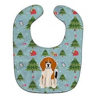 Carolines schatten BB4700BIB kerst Beagle Tricolor Baby Bib