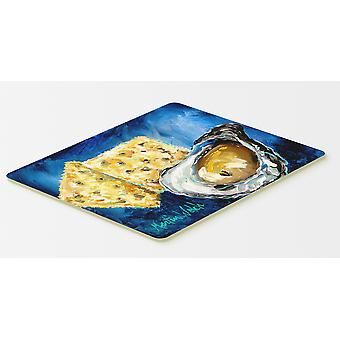Carolines Treasures  MW1089CMT Oysters Two Crackers Kitchen or Bath Mat 20x30