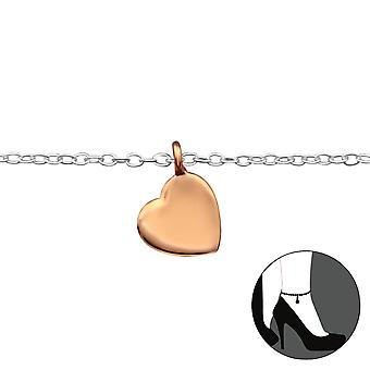 Heart - 925 Sterling Silver Anklets - W29980x