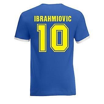 Zlatan Ibrahimovic Suecia Ringer Tee (azul)