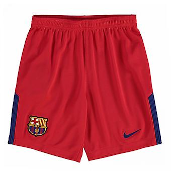 2017-2018 Barcelona Away Nike Shorts de guardameta (rojo) - niños
