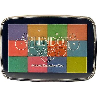 Splendor 12 Color Pigment Inkpad-Blossom SP001012