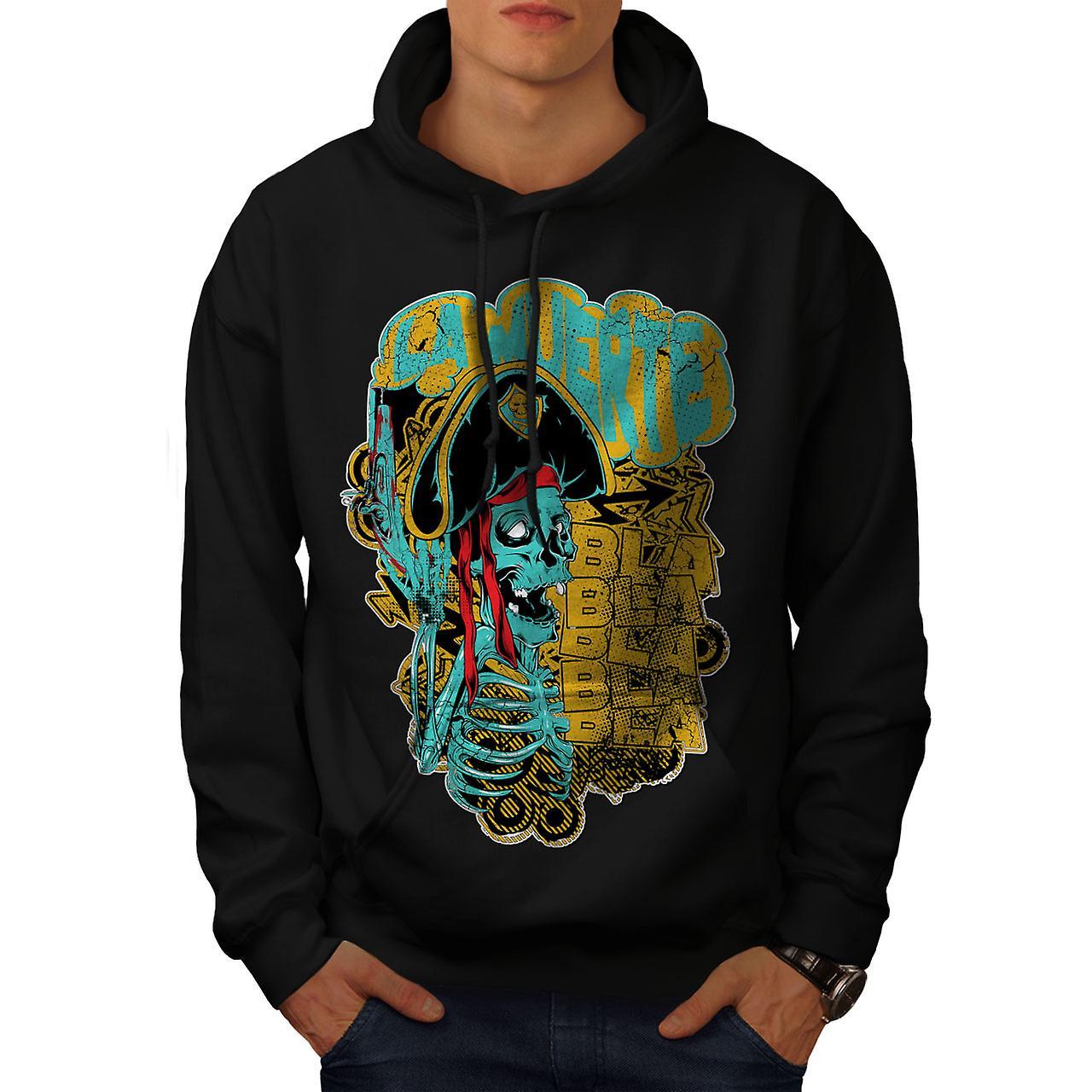 La Muerte Festival Skull Men Black Hoodie | Wellcoda