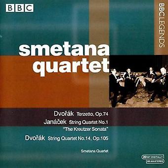 A. Dvorak - Dvor K: terzet, Op. 74; Strygekvartet, Op. 105; Jan Cek: Strygekvartet nr. 1 [CD] USA importerer