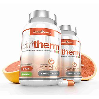 CitriTherm Natural Fat Burner with Sinetrol Citrus Extracts - 120 Capules - Fat Burner - Evolution Slimming