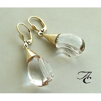 Golden rhinestone earrings
