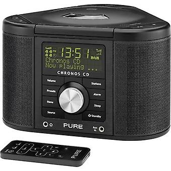 DAB+ Radio alarm clock Pure Chronos CD Serie II AUX, CD, DAB+, FM Black