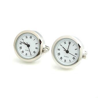 シルバー トーンのステンレス時計作業メンズ レディース時計ウエディング事業を正式なカフス