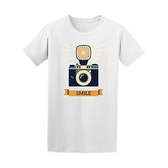 Retro Style Camera Smile Graphic Tee - Image by Shutterstock