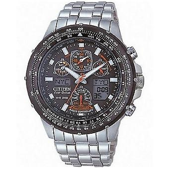 Citizen watch Skyhawk eco drive stainless steel clock chronograph JY0020-64E