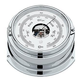 Barigo marine ship porthole barometer, double box 1613CR