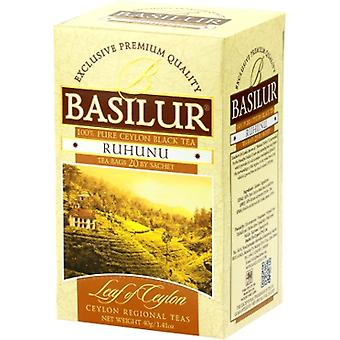 Basilur Tea Leaf Of Ceylon Tea From Ruhunu Region In Foil  20 Tea Bags