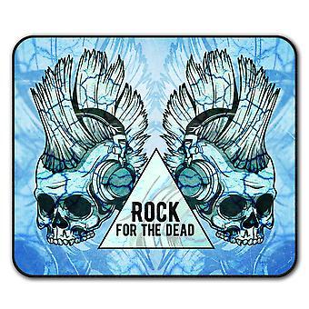 Funk música cráneo Metal ratón antideslizante alfombra Pad 24 cm x 20 cm | Wellcoda