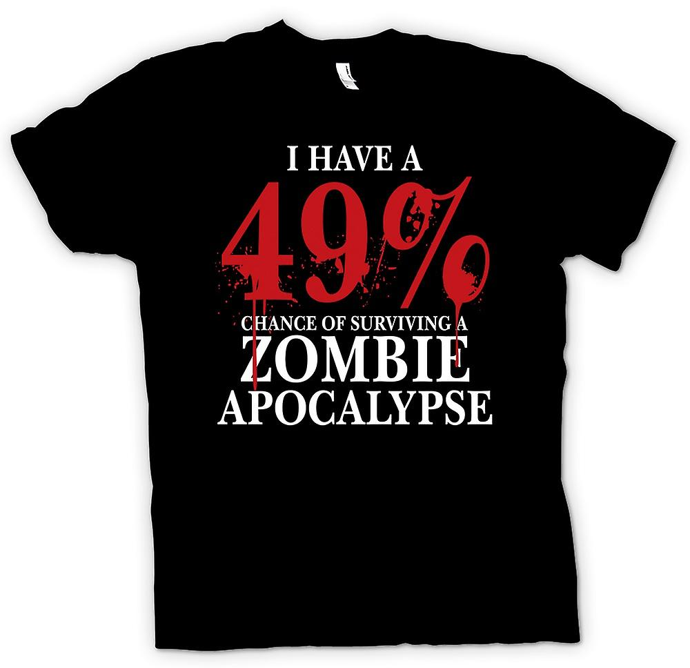 Mens t-shirt-Apocalisse Zombie 49% - Horror divertente