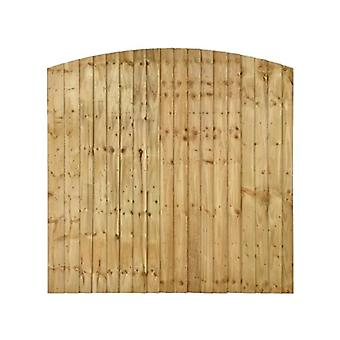 Forest Garden 6ft Pressure Treated Featheredge Dome Top Fence Panel