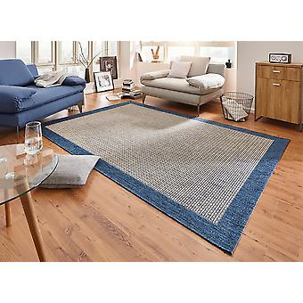 Design carpet flat weave simple with blue border