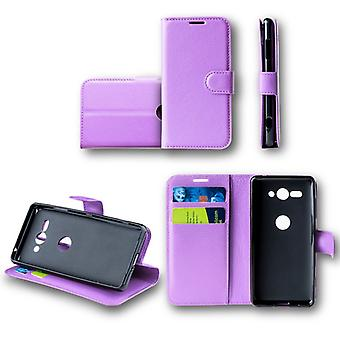 For Samsung Galaxy A6 A600 2018 Pocket wallet premium purple protection sleeve case cover pouch new accessories