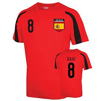 Espagne Jersey formation de Sports (xavi 8) - Enfants