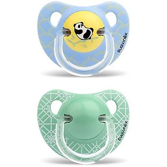 Suavinex Yellow Panda Anatomical Pacifier 18 Months 2 Units