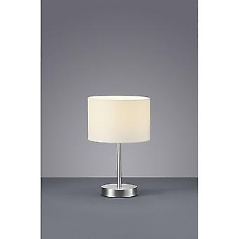 Trio Lighting Hotel Modern Nickel Matt Metal Table Lamp