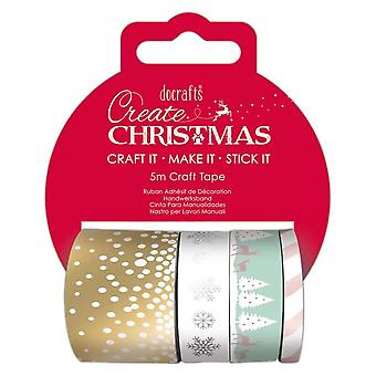 DoCrafts Pastel Christmas Craft Tape Set***