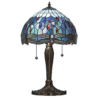 Interiors 1900 Blue Dragonfly Medium 2 Light Tiffany Ta