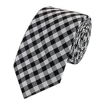 Tie stropdas tie stropdas smalle 6cm zwart/wit geruit Fabio Farini