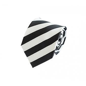 Tie tie tie tie 8cm black Fabio Farini white striped